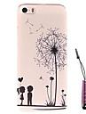 Dandelion Child Under  Pattern Hard Case & Touch Pen for iPhone 5/5S