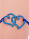 moda eruner® dois colorido pulseira padrão de coração (cores sortidas)