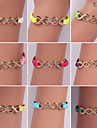 Eruner®Fashion Alloy Infinite Leather Bracelets(Assorted Colors)