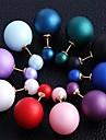 Серьги-гвоздики Сплав Шарообразные Зеленый Синий Розовый Светло-синий Темно-лиловый: Бижутерия Для вечеринок Повседневные