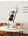 La notación de la música del violín pegatinas de pared