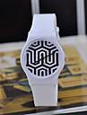 cor mágica relógio de plástico transparente de alta qualidade circular movimento do relógio japonês das mulheres