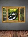 Мода Пейзаж Отдых Наклейки 3D наклейки Декоративные наклейки на стены материал Съемная Украшение дома Наклейка на стену