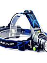 Освещение Светодиодные фонари / Налобные фонари LED 800 Люмен Режим Cree T6 18650 Фокусировка / Водонепроницаемый / Перезаряжаемый