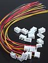 wire única cabeça xh2.54-3p com terminais de fios (10pcs)