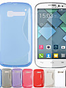 S Shape Design Soft Gel TPU Case for Alcatel One Touch Pop C5 OT-5036A(Assorted Colors)