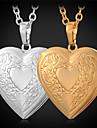 Femme Pendentif de collier Médaillons Colliers Cuivre Plaqué or Amour Mode Doré Bijoux Pour Quotidien Décontracté 1pc