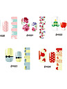 14PCS Lovely Cartoon Style Nail Art Stricker D Series NO.20-24(Assorted Pattern)