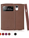 GGMM® Window-S4 Genuine Leather Cover Protective Case with View Window Auto-Sleep for Samsung Galaxy S4