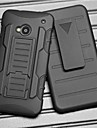 Strap Clamp Drop Resistance Armor Protective Jacket with Stand and Clip for HTC One M7