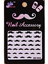 1PCS Cartoon Mustache Style Nail Art Stickers MZ Series MZ-W02