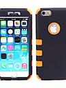 아이폰 6 (모듬 색상)에 대해 다시 한 디자인 콤보 수비수 커버 케이스에 충격 방지 갑옷 PC + 실리카 겔 2