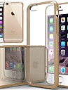 Luxurious Cushion Clear Back Cover with Silicone Bumper for iPhone 6/6S(Assorted Color)