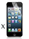 [5-pack] grande transparence lcd cristal protecteur d'écran avec chiffon de nettoyage pour iPod Touch 5