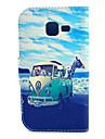 용 삼성 갤럭시 케이스 카드 홀더 / 스탠드 / 플립 / 패턴 케이스 풀 바디 케이스 풍경 인조 가죽 Samsung Trend Lite
