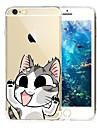 용 아이폰7케이스 / 아이폰7플러스 케이스 / 아이폰6케이스 / 아이폰6플러스 케이스 투명 / 패턴 케이스 뒷면 커버 케이스 고양이 소프트 TPU 용 Apple아이폰 7 플러스 / 아이폰 (7) / iPhone 6s Plus/6 Plus /