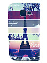 Para Samsung Galaxy Capinhas Porta-Cartão / Com Suporte / Flip / Estampada Capinha Corpo Inteiro Capinha Torre Eiffel Couro PU Samsung
