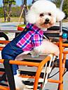 Chien Costume Combinaison-pantalon Vert Rouge Rose Vêtements pour Chien Hiver Printemps/Automne Jeans Cosplay Décontracté / Quotidien