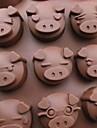 многофункциональный тепло форма свинья DIY формы силиконовые материалы (случайный цвет)