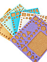modelo para make quilling papel de arte artesanato diy decoração (cor aleatória, 21x18cm)