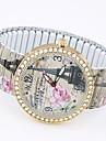 아가씨들 패션 시계 팔찌 시계 캐쥬얼 시계 석영 합금 밴드 에펠탑 멀티컬러