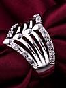 Массивные кольца Кристалл Стерлинговое серебро Имитация Алмазный Бижутерия Свадьба Для вечеринок Повседневные 1шт