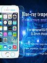 Huyshe lutte contre épaisseur de 0,33 mm bleu clair résistant aux rayures verre trempé protecteur d'écran pour iPhone5 / 5c / 5s