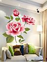 Китайский стиль яркий цветок ПВХ стикер стены