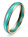 Fashion Brief Oil Drip Multicolor Alloy Bangles(1 Pc)(More Color) Christmas Gifts
