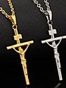 Женский Ожерелья с подвесками Платиновое покрытие Позолота Крестообразной формы Мода Серебряный Золотой БижутерияСвадьба Для вечеринок