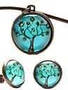 Bijoux Colliers décoratifs Boucles d'oreille Soirée Quotidien Décontracté Alliage Cuir Résine Cuivre 1set Femme Brun Cadeaux de mariage