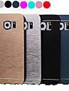 de luxo de alta qualidade cor sólida caso difícil de alumínio escovado para Samsung Galaxy S6