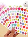 colorido divertido Conjunto de etiqueta de punto (6 piezas)