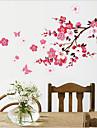 중국 스타일의 매화 PVC 벽 스티커