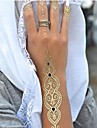 1PC Long Necklace Bracelet Gold Tattoos Temporary Tattoos Sticker Cuticle Tattoos Flash Tattoos Party Tattoos