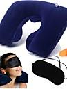 viagens criativo descanso de três peças (pescoço travesseiro + Eyeshade + Tampões) (azul marinho)