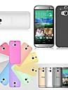 Для Кейс для HTC Ультратонкий / Прозрачный Кейс для Задняя крышка Кейс для Один цвет Твердый TPU HTC