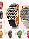 женщины волна полоса искусственная кожа алмаз бренда класса люкс леди кронштейн платье наручные часы (разных цветов) с&d-193