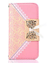Для Кейс для  Samsung Galaxy Кошелек / Бумажник для карт / со стендом / Флип / С узором Кейс для Чехол Кейс для Кружевной дизайн