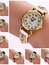 женская алмазов движение круглый циферблат кварцевые цветная полоса пряжки элегантной моды часы с&D56 (ассорти цветов)