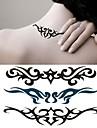 Séries Totem Tatuagem Adesiva - Non Toxic/Lombar/Waterproof - para Feminino/Masculino/Adulto/Adolescente - de Papel - Preta/Verde -6*10.5cm