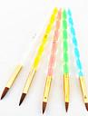 5pcs 5 cores tamanhos 2-way escova gel uv profissional definido unhas de acrílico sorteio da pintura da arte escova