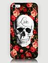 Roses Skulls Pattern Back Case for iPhone 6