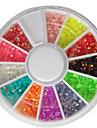 3MM 12 Colors Glitter AB Acrylic Rhinestones Nail Art Decorations