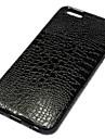 cuir de crocodile de protection de cas de Shell pour iPhone 6 (couleurs assorties)