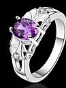 Массивные кольца Кристалл Стерлинговое серебро Лиловый Бижутерия Свадьба Для вечеринок Повседневные 1шт