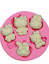 bonjour moule moule minou de silicone décoration de gâteaux en silicone pour fondantes artisanat de bonbons bijoux PMC argile de résine