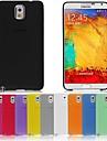 Mobile Samsung - Couleur unie - Couvercle de dos - pour Samsung Galaxy Note 3 (Noir/Blanc/Rouge/Vert/Bleu/Jaune/Gris/Violet/Rose/Orange , Plastique)