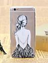 Для Кейс для iPhone 6 / Кейс для iPhone 6 Plus Прозрачный Кейс для Задняя крышка Кейс для Соблазнительная девушка Мягкий TPUiPhone 6s
