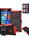 Для Кейс для Nokia Защита от удара / со стендом Кейс для Задняя крышка Кейс для Армированный Твердый PC Nokia